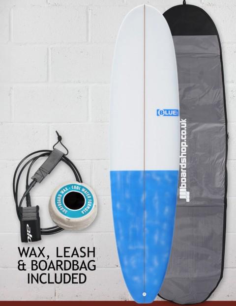 Blue Dot Mini Mal Surfboard 7ft 6 Package - Dappled Blue