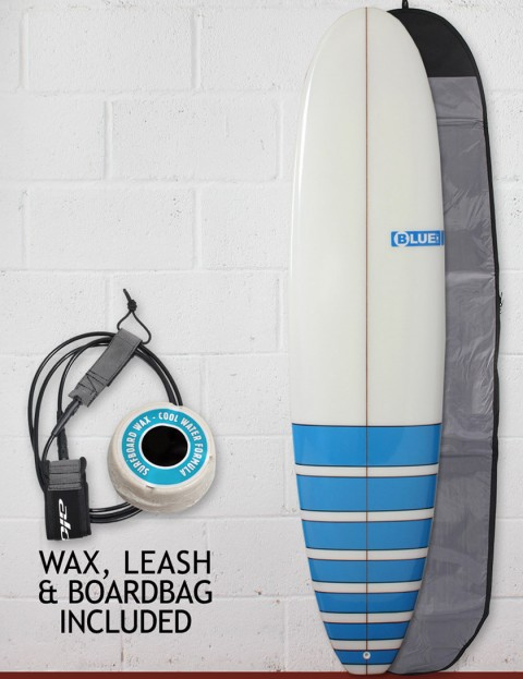 Blue Dot Mini Mal Surfboard Package 7ft 6 - Light Blue Bars