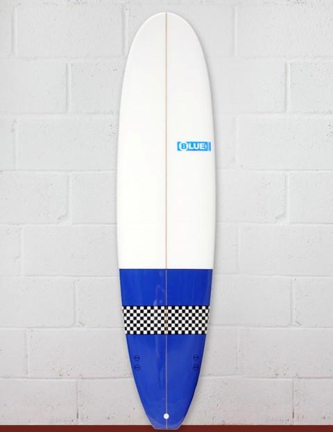 Blue Dot Mini Mal Surfboard 7ft 4 - Blue/Checkerboard