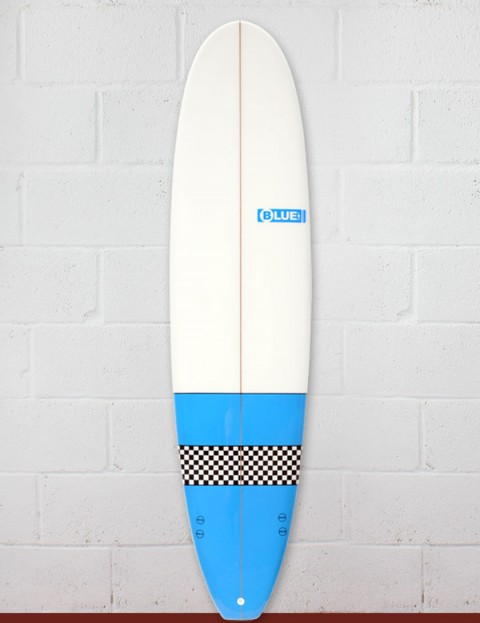 Blue Dot Mini Mal Surfboard 7ft 8 - Light Blue/Checkerboard
