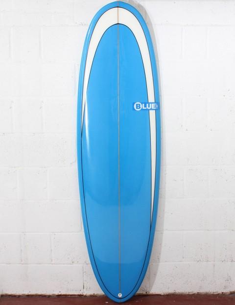 Blue Dot Retro Rug Surfboard 6ft 10 - Blue