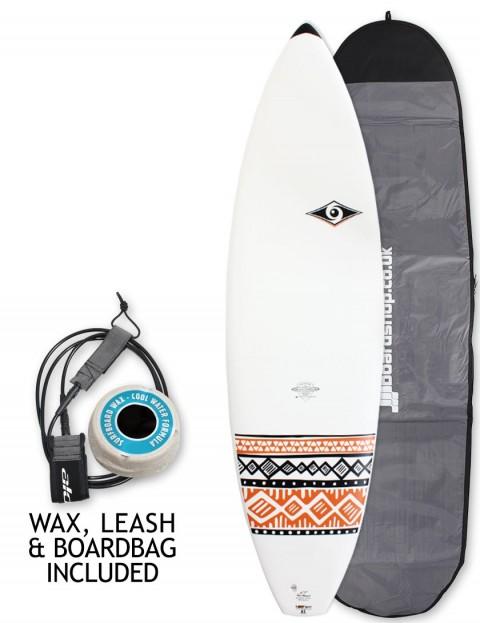 Bic DURA-TEC Shortboard surfboard 6ft 7 Package - Orange