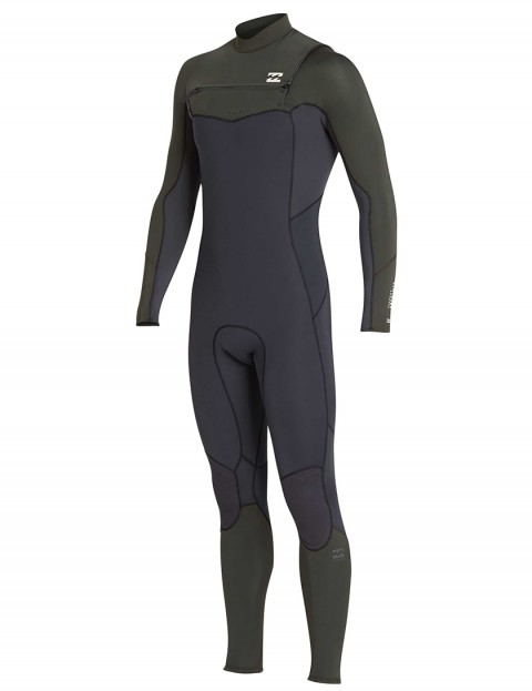 Billabong Furnace Absolute Comp Chest Zip 5/4mm wetsuit 2019 - Dark Olive