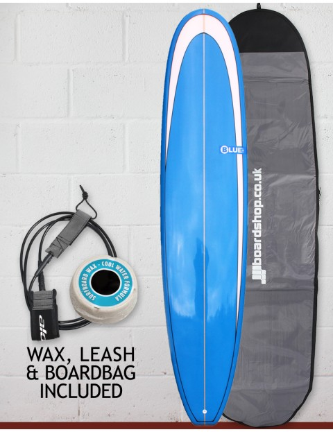 Blue Dot Mal Surfboard Package 9ft 0 - Blue