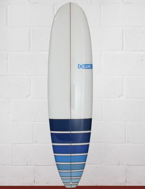 Blue Dot Mini Mal Surfboard 7ft 2 - Blue Fade Bars