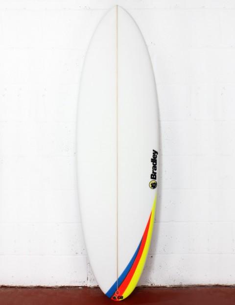 Bradley Mosselman surfboard 6ft 1 Futures - White