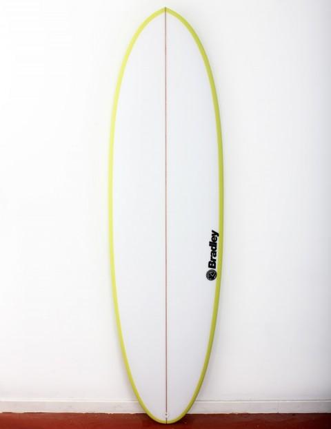 Bradley Mr Bean surfboard 6ft 8 FCS II - Lime Green