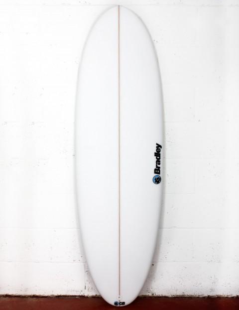 Bradley Mr Bean surfboard 6ft 10 FCS II - White