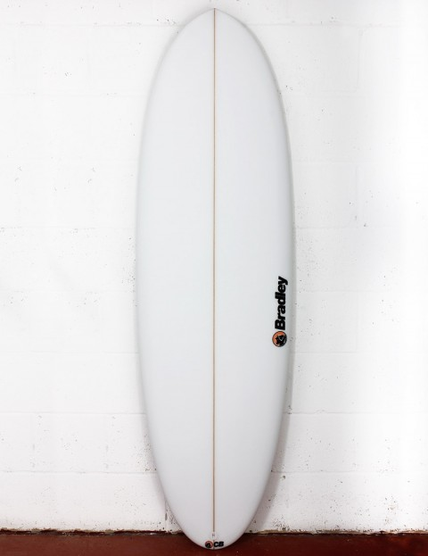 Bradley Mr Bean surfboard 6ft 6 FCS II - White