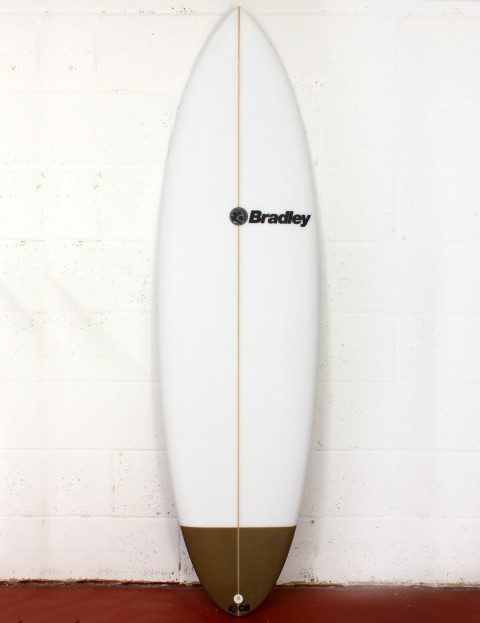 Bradley Chocolatine surfboard 6ft 0 FCS II - White