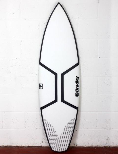 Bradley LC6 Gladiator surfboard 6ft 0 Futures - White