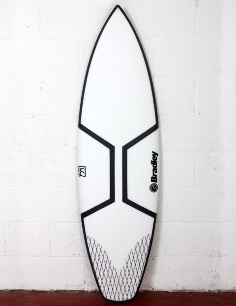 Bradley LC6 Gladiator surfboard 6ft 2 Futures - White