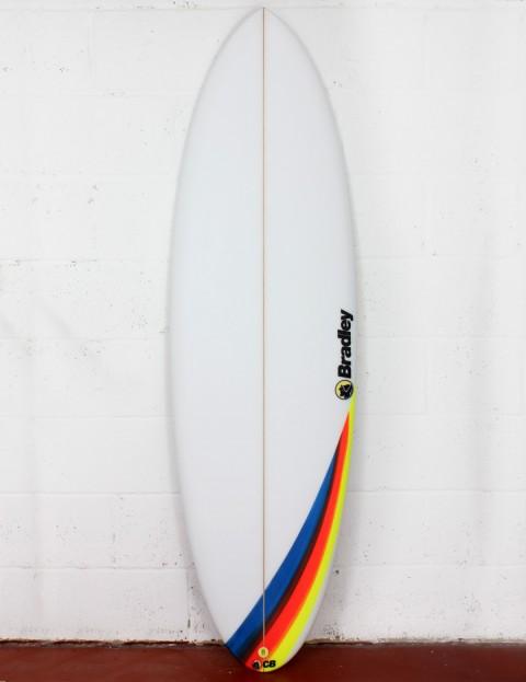 Bradley Mosselman surfboard 5ft 8 FCS II - White