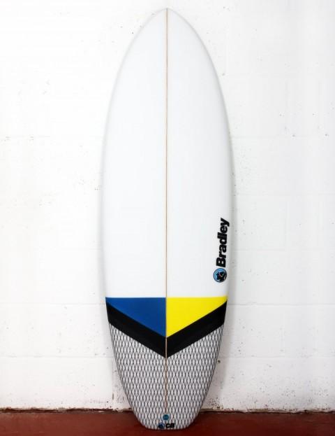 Bradley New Barcelona surfboard 5ft 10 FCS II - Blue/Yellow