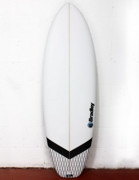 Bradley New Barcelona surfboard 6ft 2 FCS II - White