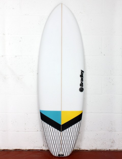Bradley New Barcelona surfboard 5ft 6 FCS II - Blue/Yellow