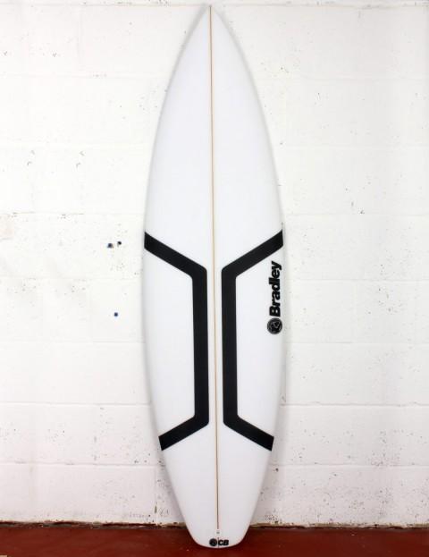 Bradley Roman surfboard 6ft 0 FCS II - White