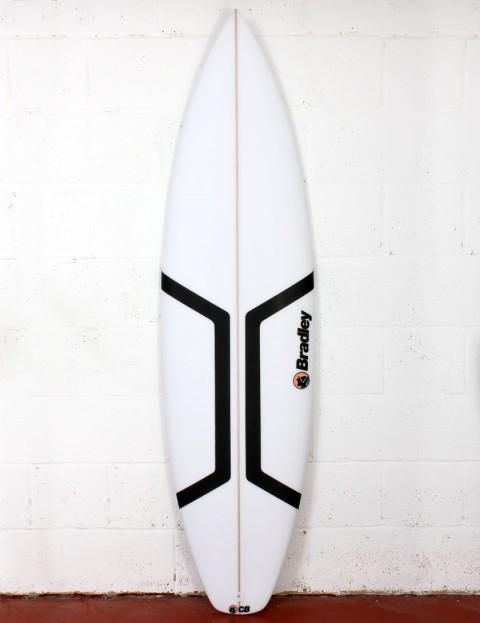 Bradley Roman surfboard 6ft 3 FCS II - White