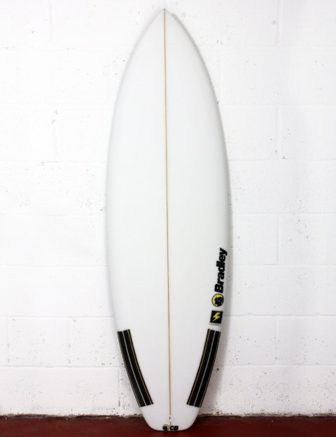 Bradley Thunderbolt surfboard 6ft 0 FCS II - White