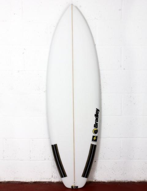 Bradley Thunderbolt surfboard 6ft 2 FCS II - White