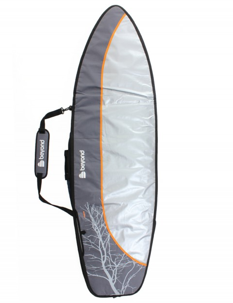 Beyond Hybrid Day Tripper 8mm surfboard bag 6ft 3 - Grey/Orange