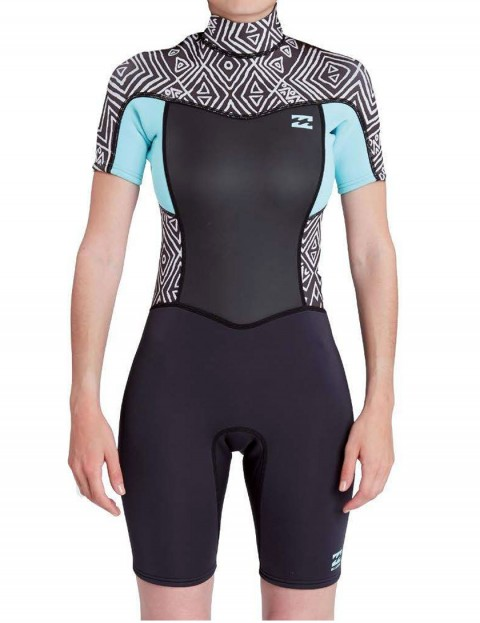 Billabong Ladies Synergy Shorty 2/2mm Wetsuit 2017 - Geo Diamonds