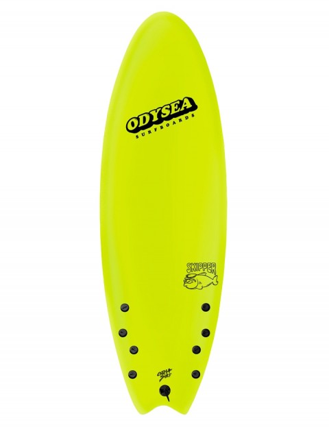 Catch Surf Odysea Skipper Quad soft surfboard 5ft 6 - Electric Lemon