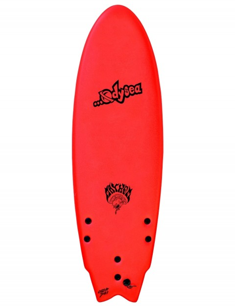 catch surf odysea x lost round nose fish soft surfboard 5ft 5 red