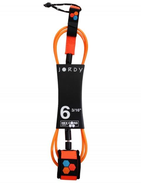Channel Islands Jordy Hex Comp Surfboard leash 6ft - Fluro Orange