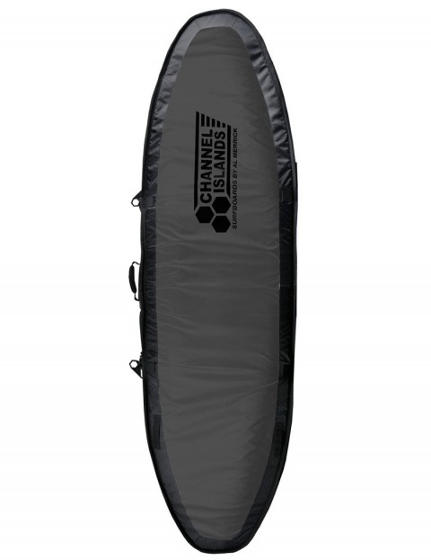 Channel Islands CX4 Travel Light Coffin Quad surfboard bag 10mm 6ft 6 - Charcoal