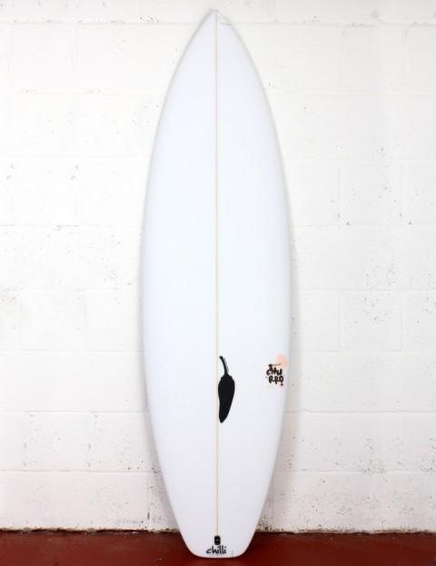 Chilli Churro surfboard 6ft 2 FCS II - White