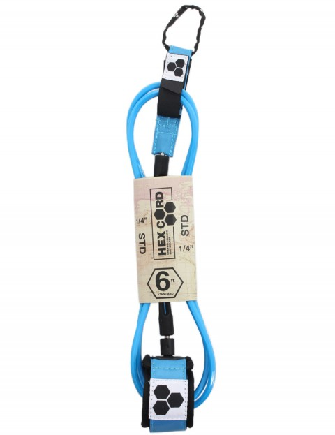 Channel Islands Standard Hex Cord surfboard leash 6ft - Ocean Blue