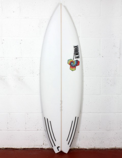 Channel Islands Rocket 9 surfboard 5ft 9 Futures - White