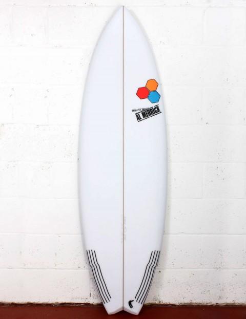Channel Islands Weirdo Ripper surfboard 6ft 4 FCS II - White