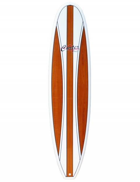 Cortez Mal Veneer Surfboard 9ft 0 - Dark Natural Wood