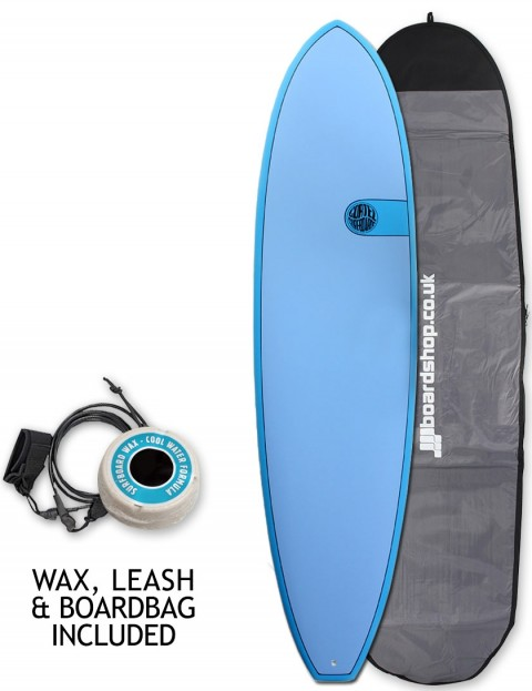 Cortez Funboard surfboard package 7ft 6 - Ocean Blue