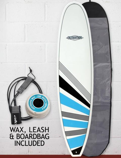 Cortez Surfboards Funboard Package Surfboard 7ft 2 - Blue/Black