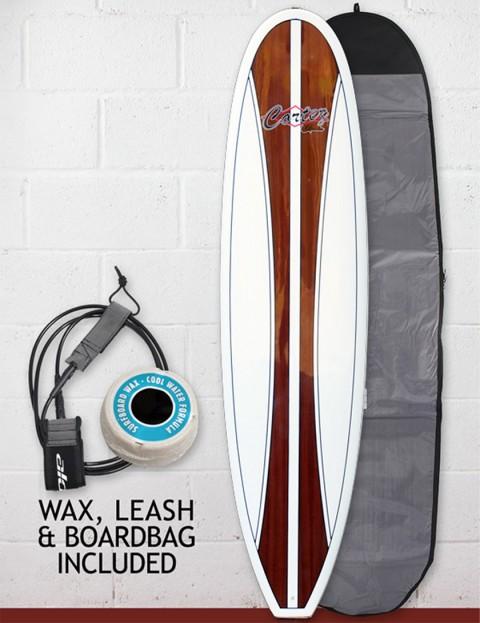 Cortez Fun Veneer Surfboard Package 7ft 6 - Dark Natural