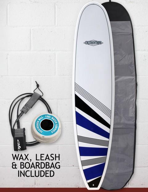 Cortez Surfboards Funboard Package Surfboard 7ft 6 - Navy/Black