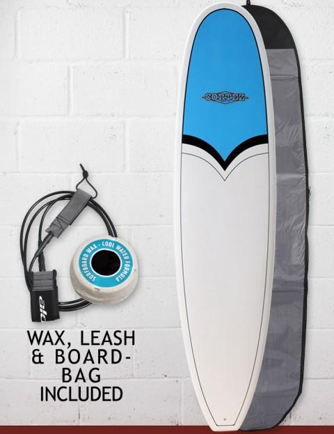 Cortez Funboard Surfboard Package 8ft - Blue Nose