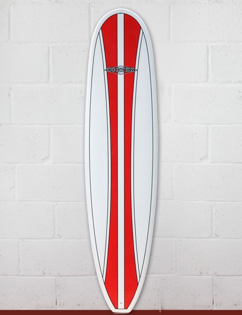 Cortez Funboard Surfboard 8ft 0 - Red