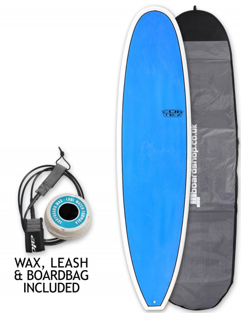 Cortez Mini Mal Surfboard package 7ft 6 - Sanded Blue