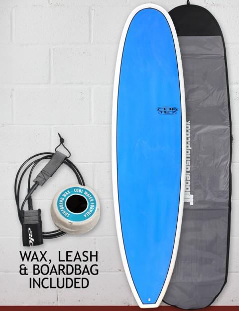 Cortez Funboard Surfboard Package 8ft 0 - Sanded Blue