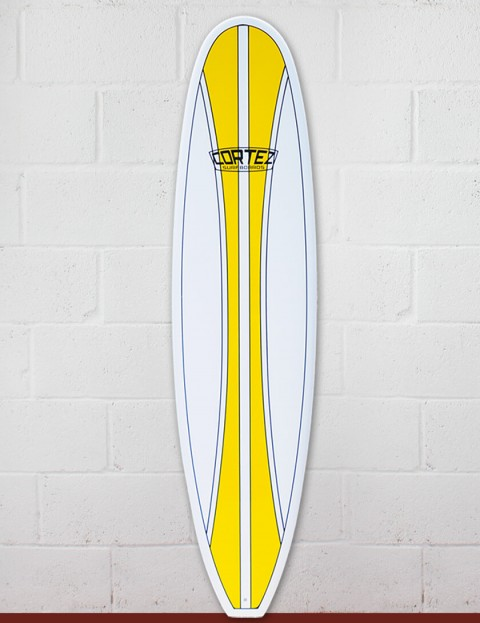 Cortez Funboard Mini Mal Surfboard 7ft 6 - Yellow