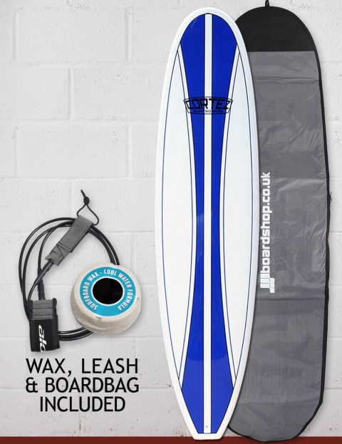 Cortez Mal Surfboard Package 9ft 2 - Navy Blue