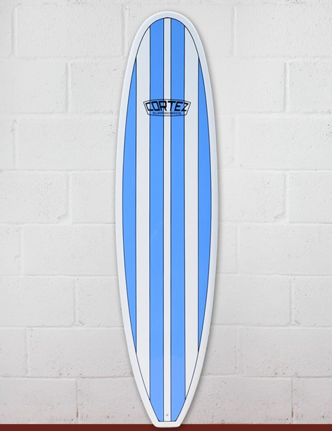 Cortez Funboard Surfboard 7ft 6 - Light Blue
