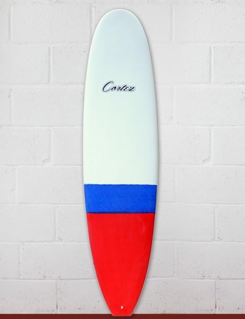 Cortez Funboard Surfboard 8ft 0 - Dip Red/Blue Sanded