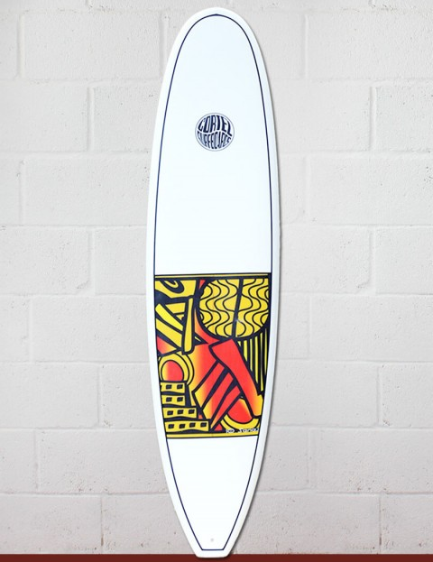 Cortez Funboard Surfboard 8ft 0 - Series 10 Yellow