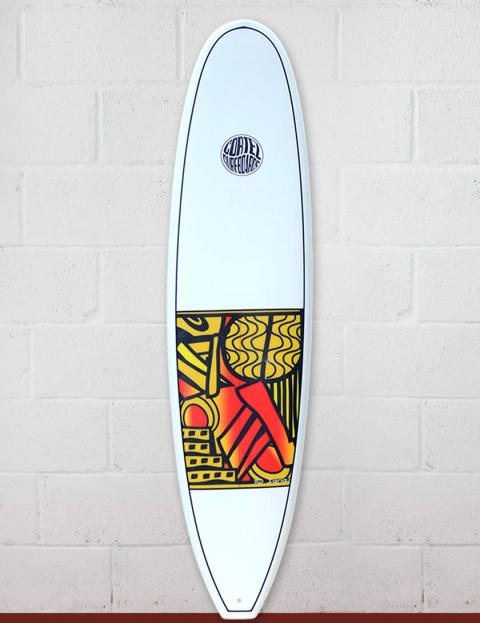 Cortez Funboard Surfboard 7ft 4 - Series 10 Yellow