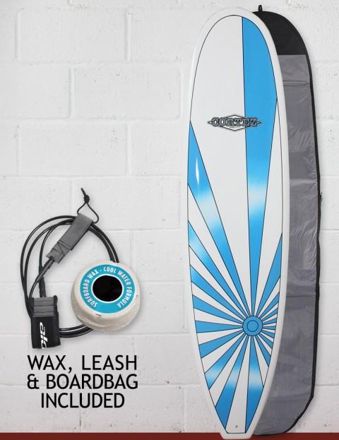 Cortez Grom Surfboard Package 6ft 10 - Blue Sunrise